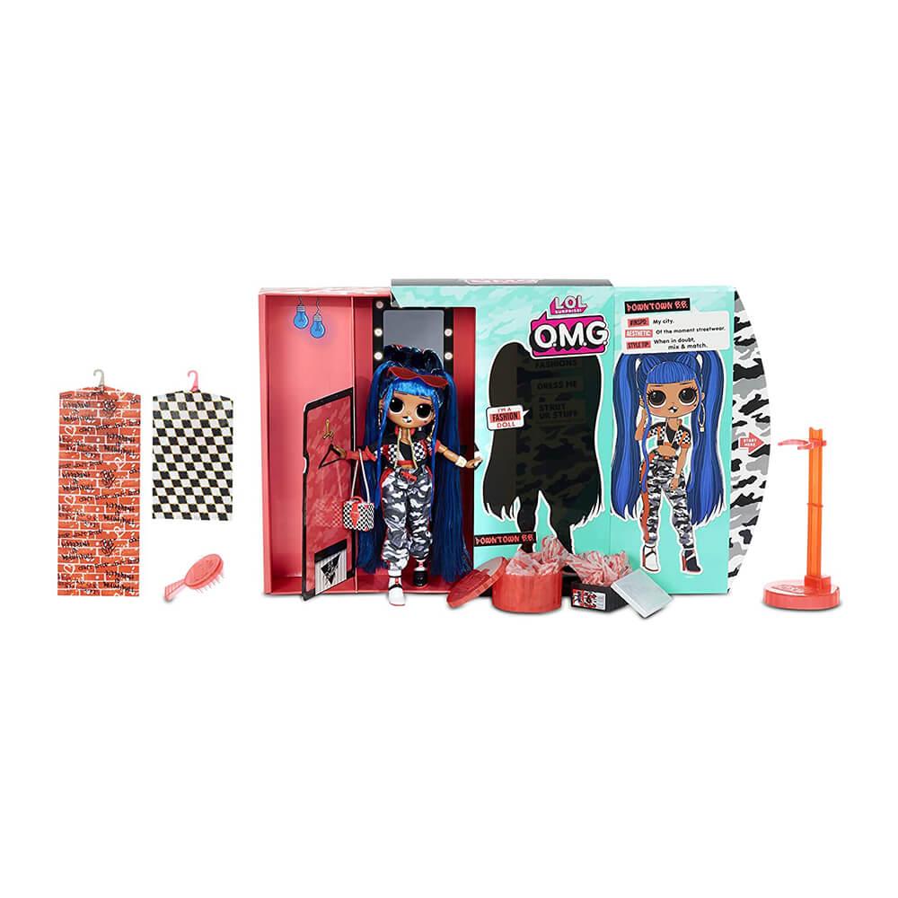 Большая кукла LOL Surprise OMG Downtown B.B. с 20  сюрпризами (2 серия)